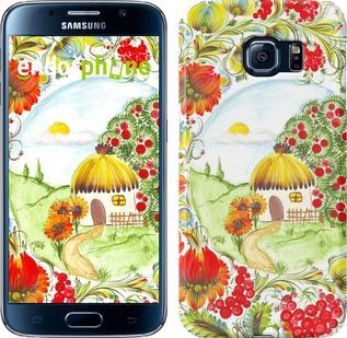 """Чехол на Samsung Galaxy S6 G920 Украинская хатка """"1598c-80"""""""