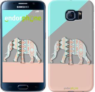 "Чехол на Samsung Galaxy S6 G920 Узорчатый слон ""2833c-80"""