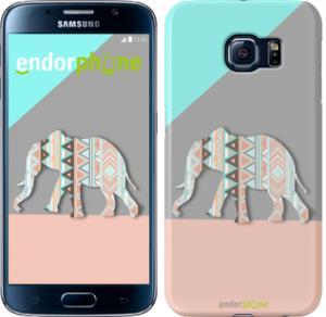 Фото Чехлы для Samsung Galaxy S6 G920 Чехол на Samsung Galaxy S6 G920 Узорчатый слон