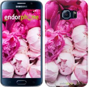 Фото Чехлы для Samsung Galaxy S6 G920 Чехол на Samsung Galaxy S6 G920 Розовые пионы