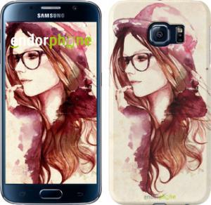 Фото Чехлы для Samsung Galaxy S6 G920 Чехол на Samsung Galaxy S6 G920 Девушка в шляпке
