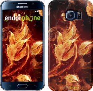 Фото Чехлы для Samsung Galaxy S6 G920 Чехол на Samsung Galaxy S6 G920 Огненные цветы