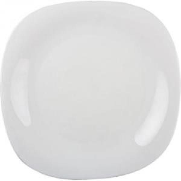 Carine White.Тарелка обеденная квадратная 26см Luminarc
