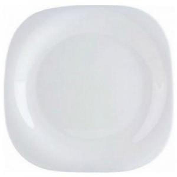 Carine White.Тарелка десертная квадратная 19см Luminarc