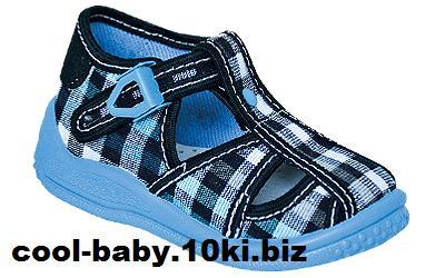 Детские босоножки текстильные для мальчика голубой в клетку Igor 2380 ZETPOL 18-27