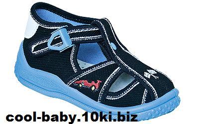 Детские босоножки текстильные для мальчика синие машина Igor 2397 ZETPOL 18-27