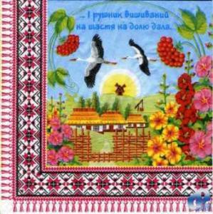Фото Салфетки для декупажа, Сюжетные Салфетка Украинское село СД-008