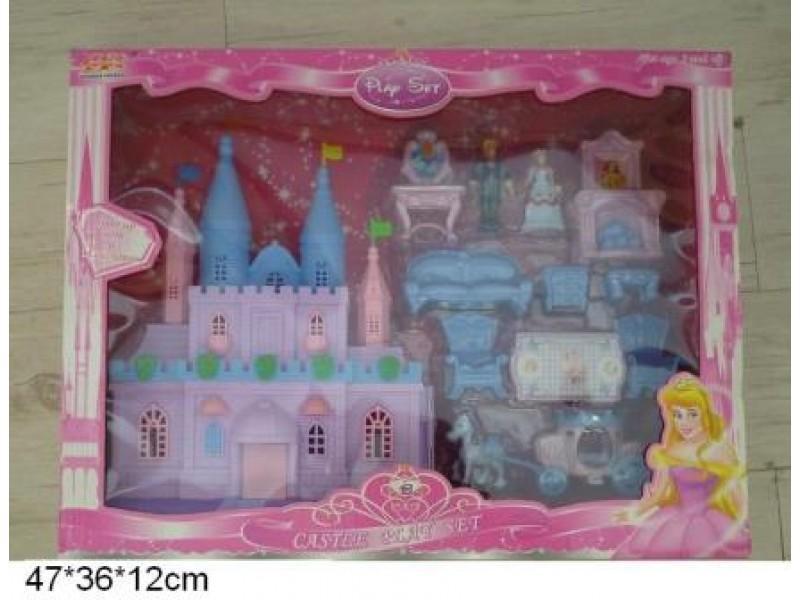 Замок для Золушки, с куклами, каретой и мебелью