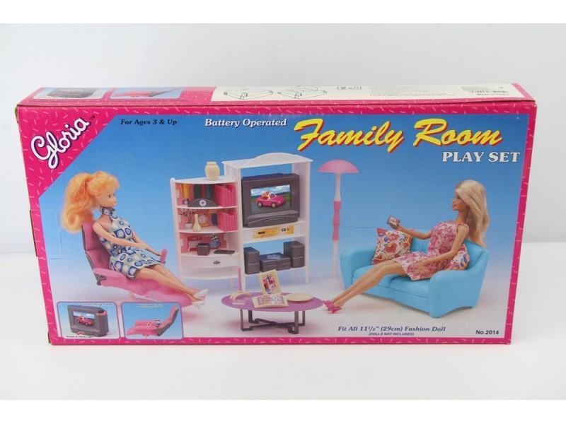 Гостинная для кукольного домика Глория