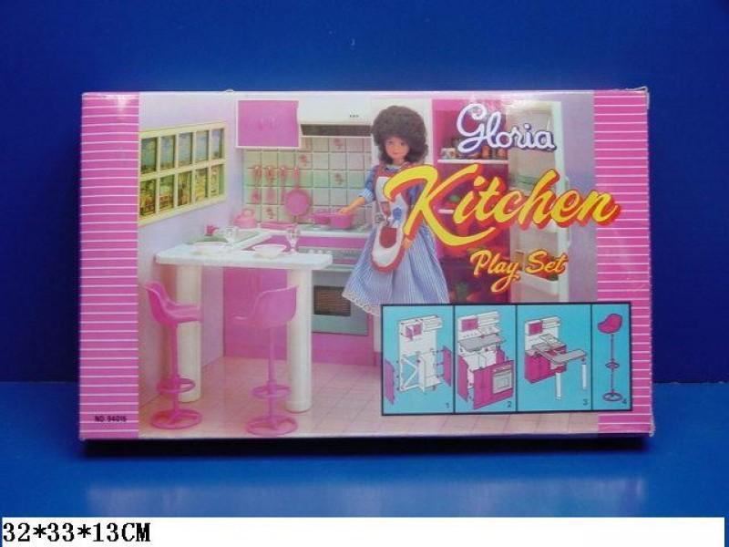 Мебель для кукольного домика Кухня с барной стойкой