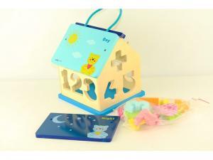 Фото Развивающие  Деревянный домик сортер с цифрами  BABY MIX