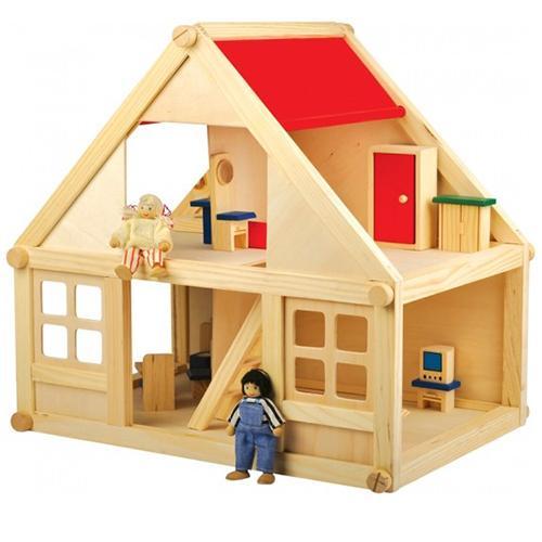 Деревянный кукольный дом