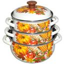 """Набор эмалированной посуды """"Осень-1"""" из 3 предметов"""