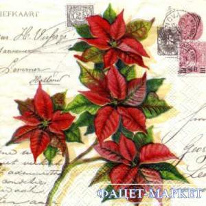 Фото Салфетки для декупажа, Цветы Салфетка Цветы на письмах СД-024