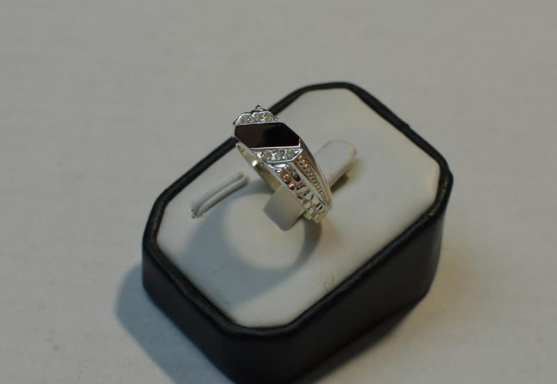 кольцо мужская печатка 4
