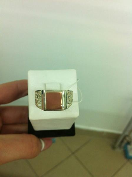 кольцо мужская печатка 5