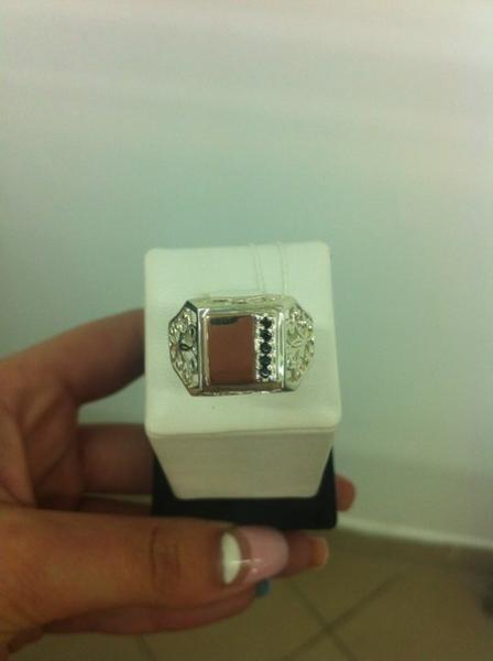 кольцо мужская печатка 6