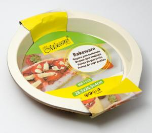Фото Товары для дома, Посуда Форма для запекания круглая керамическая Maestro