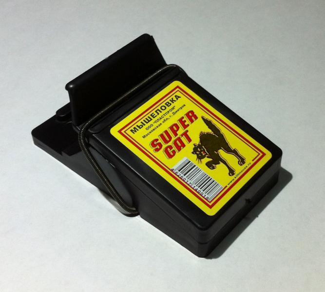 Пластиковая мышеловка «Super Cat» (Супер Кот) – высокоэффективная механическая ловушка для мышей.