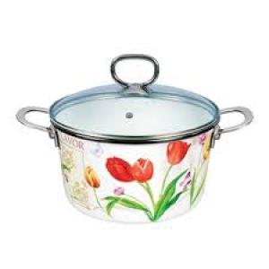 Фото Товары для дома, Посуда Кастрюля эмаль 24см Rainbow Maestro