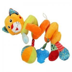 Фото       Для малышей, Игрушки для малышей , Погремушки и игрушки  Плюшевая спираль Baby Mix Тигр