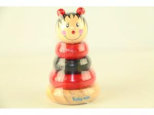 Фото Деревянные игрушки  BABY MIX Пирамида деревянная