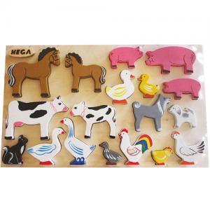 Фото Деревянные игрушки  Набор животных из дерева
