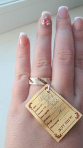 Фото Серебро со вставками золота, Кольца  кольцо 121