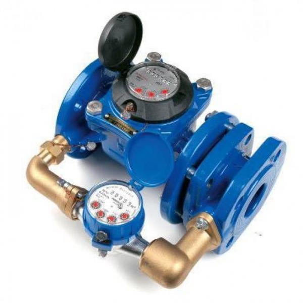 Счетчик воды комбинированный, водомер комбинированный водосчетчик, двойной счетчик воды водомер.