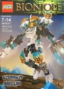 Детский конструктор Bionicle 612-1 Копака объединитель льда, 193 дет.