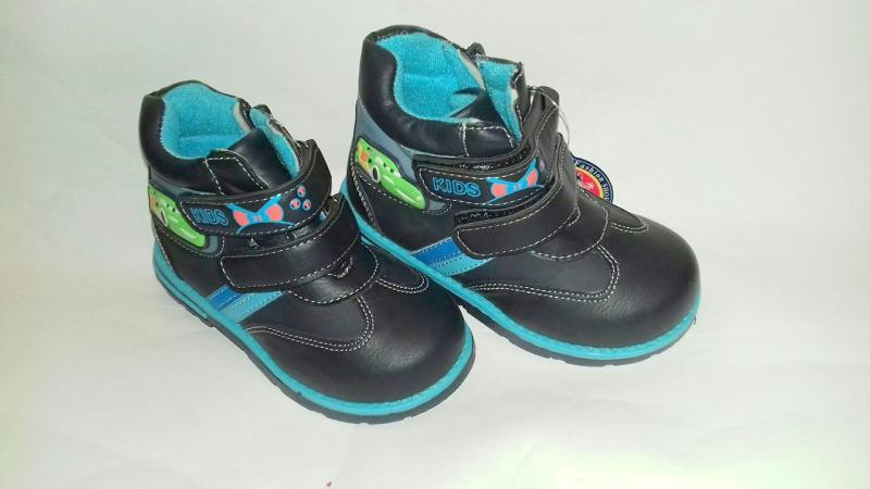 Детские Ботинки  синяя машинка  GFB 22-27