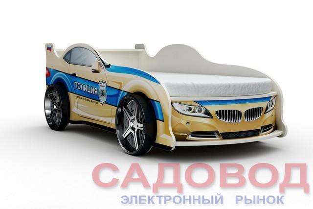 Кровать-машинка «БМВ-Полиция» Детские и подростковые кровати на рынке Садовод