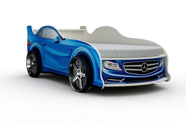 Кровать-машина «Мерседес», цвет синий