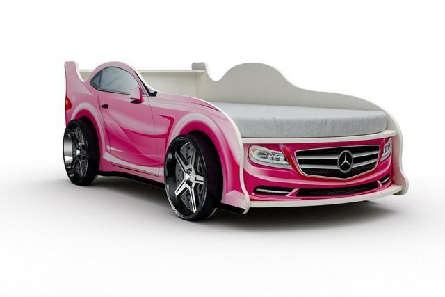 Кровать-машина «Мерседес», цвет розовый