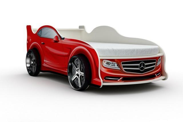 Кровать-машина «Мерседес», цвет красный