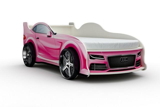 Кровать-машина «Ауди», цвет розовый