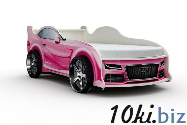 Кровать-машина «Ауди», цвет розовый Детские и подростковые кровати в Москве