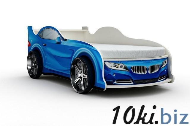 Кровать-машина «БМВ», цвет синий Детские и подростковые кровати в России