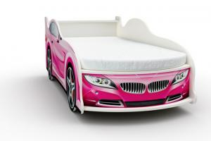 Фото КРОВАТИ-МАШИНЫ ИЗ ДСП Кровать-машина «БМВ», цвет розовый