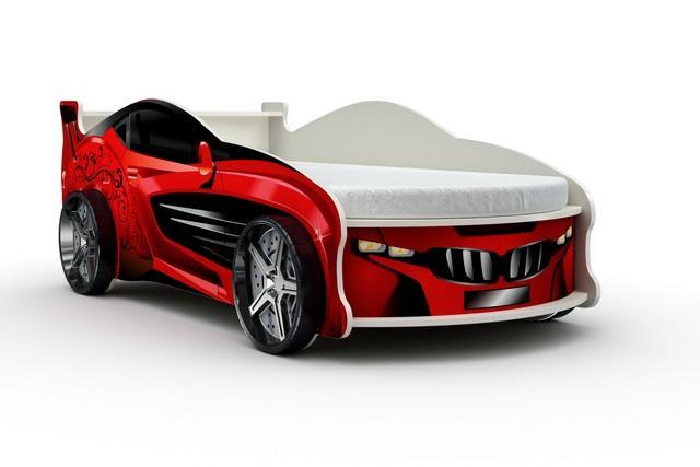 Кровать-машина «Форсаж», цвет красный