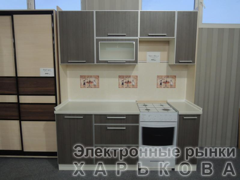 "Кухни ""Полина"" ЛДСП Кроно в алюминиевом профиле"