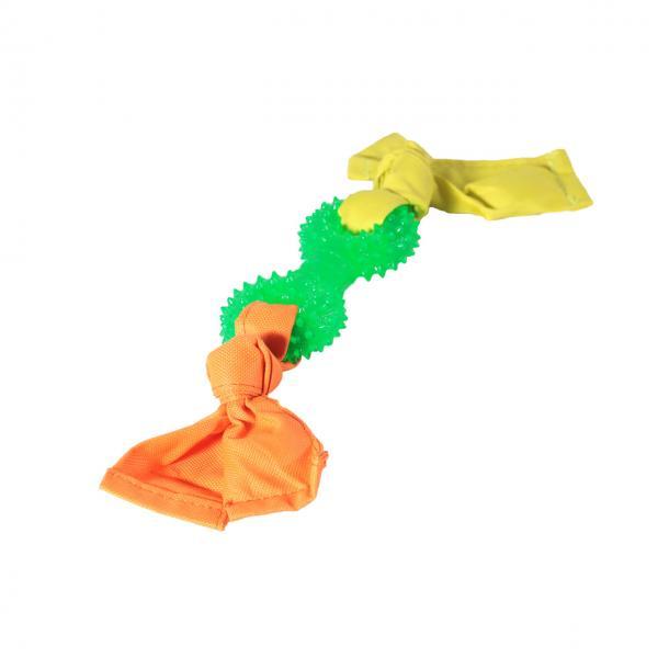 Гантель кольца с лентами нейл. TPR 11,5*32 см