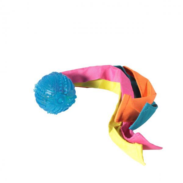 Мяч шип.с лентами нейлон TPR 6*33 см