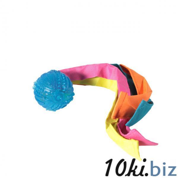 Мяч шип.с лентами нейлон TPR 6*33 см Игрушки для собак, грейферы на Электронном рынке Украины