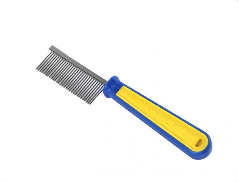 Расческа пласт, желто-син,част,зубья /пакет
