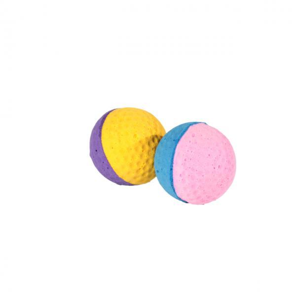 Мяч зефирный д/гольфа двухцв, 4,5 см в пакете 4 шт