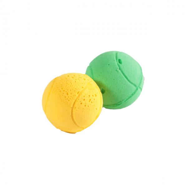 Мяч зефирный теннис, одноцв, 4 см в тубе 60 шт