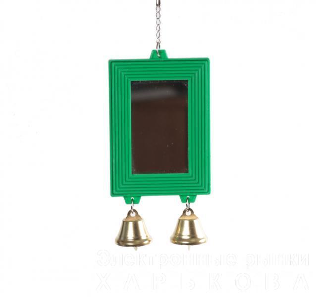 Зеркало с колоколом/224 - Игрушки для птиц, аксессуары в клетку на рынке Барабашова