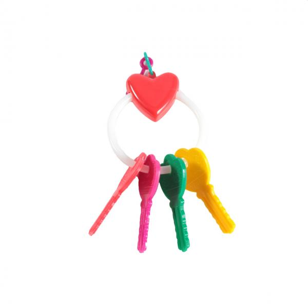 Игрушка д/птиц ключи с сердечком на кольце/110