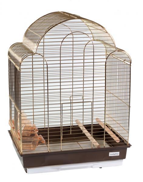 Клетка золотая для птиц золотая 42х30х56см
